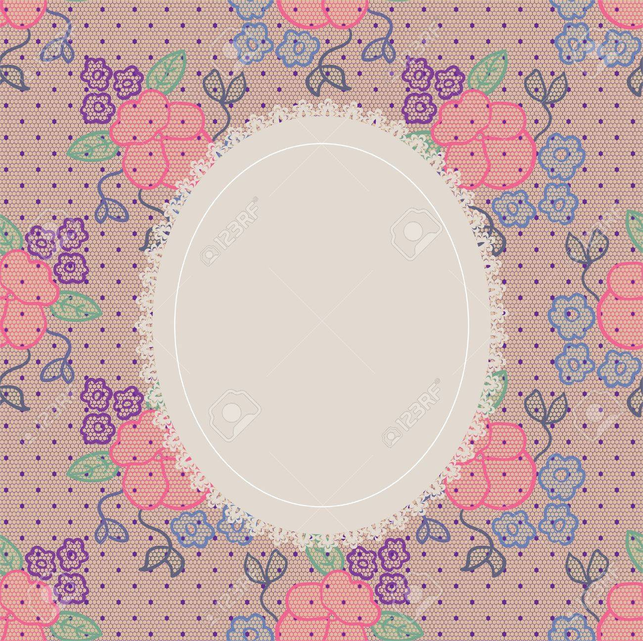 Elegant doily on lace gentle background for scrapbooks, albums, crafts, decorating Stock Vector - 15095530