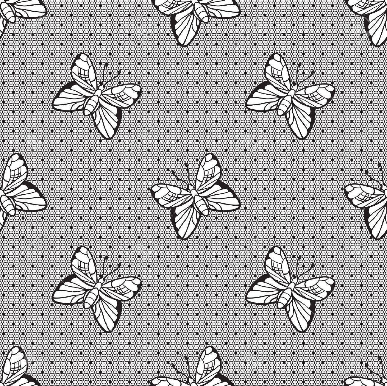 Gentle elegant dotted lace seamless pattern Stock Vector - 15138787