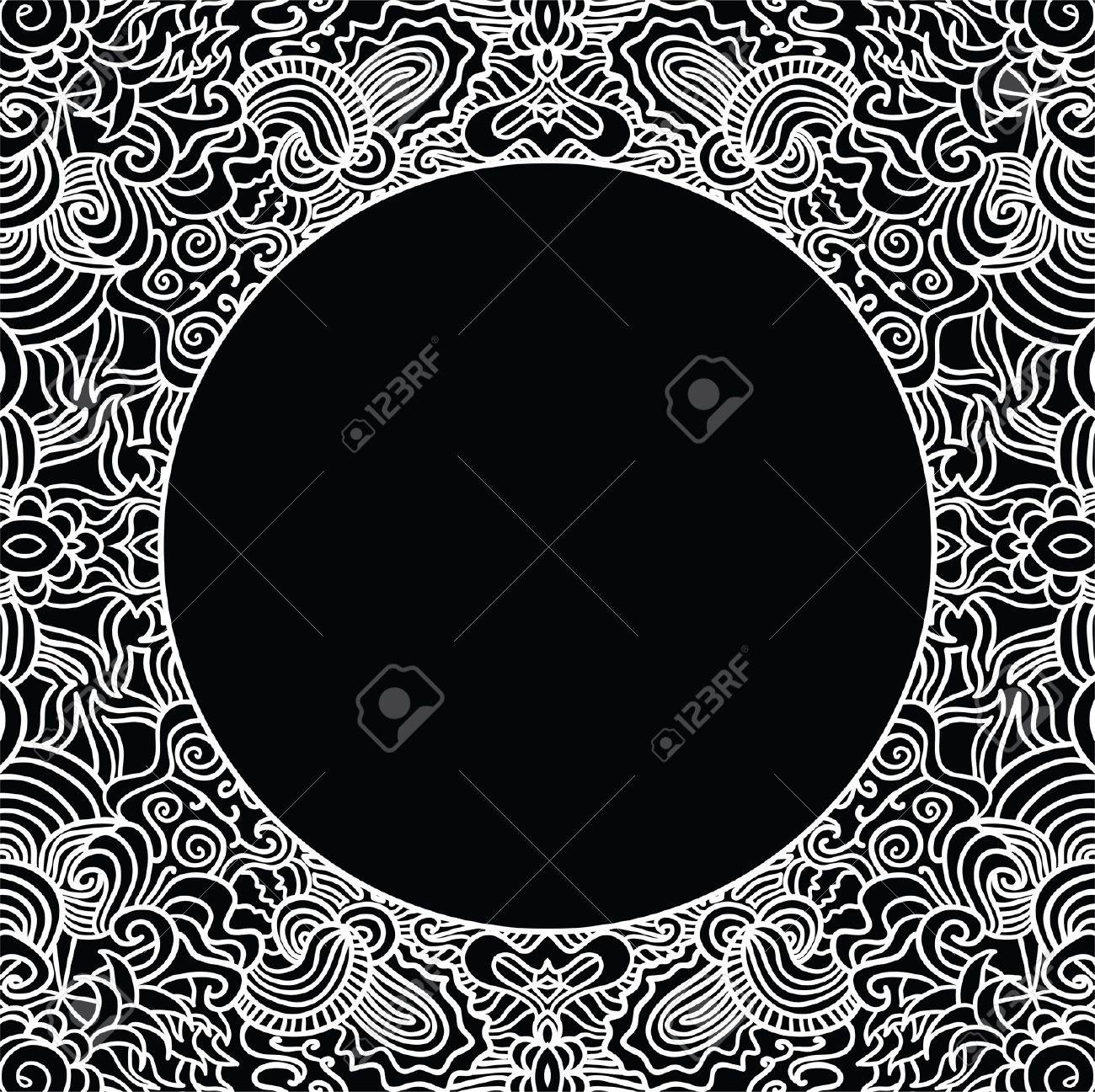 Circle on seamless pattern. Template with copy space. Stock Vector - 16473234