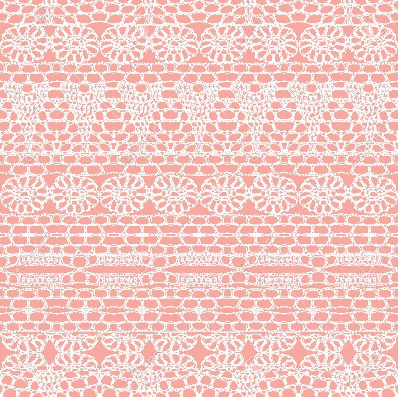Cordones Sin Costura Crochet Patrón De Fondo Vector Ilustraciones ...