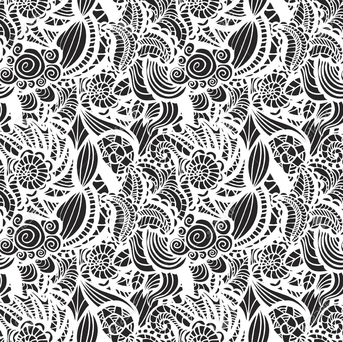 Hand-drawn seamless pattern may be used as background Stock Vector - 21604633