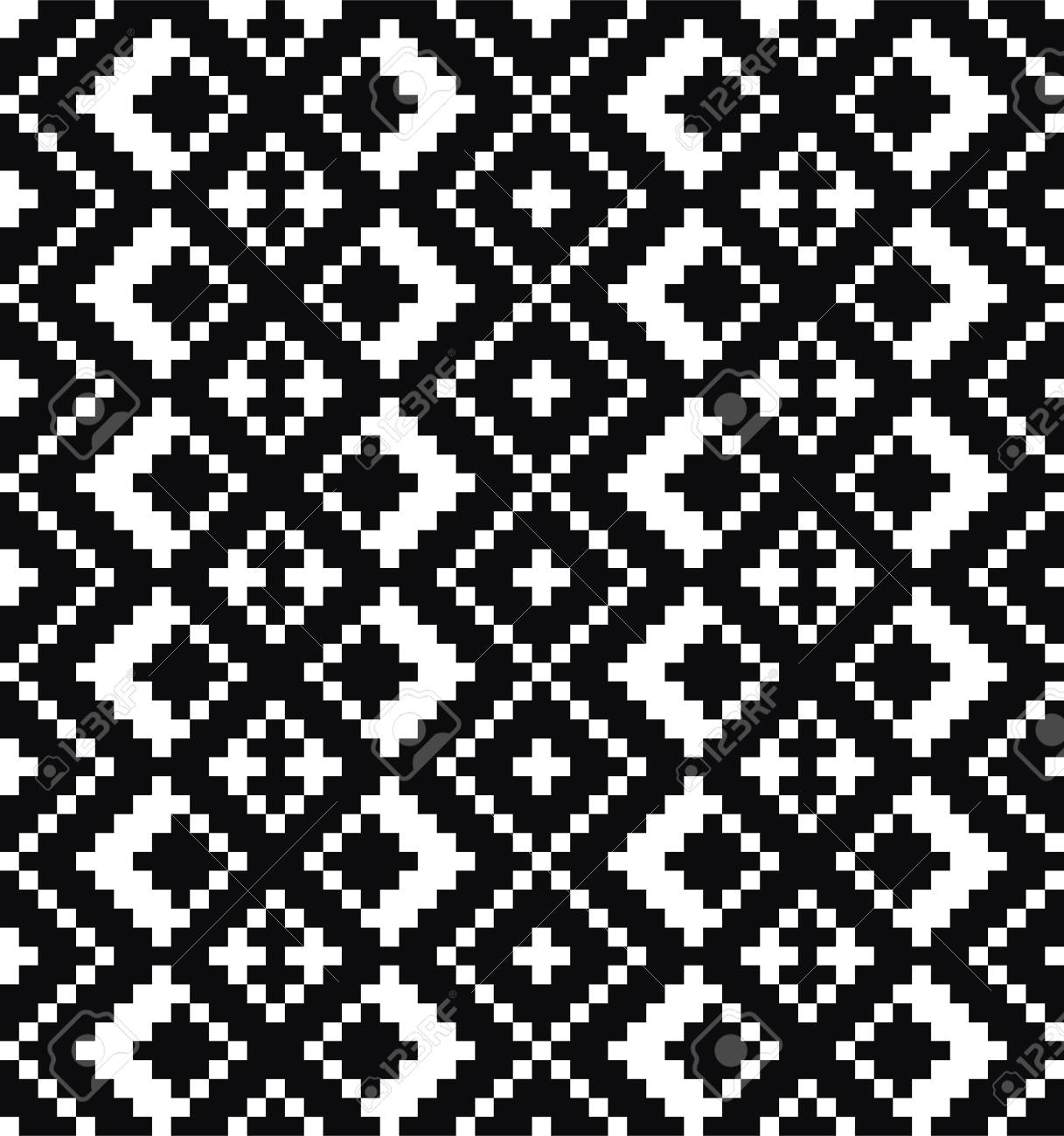 Black and white pattern. Vector ornament. Stock Vector - 22620328