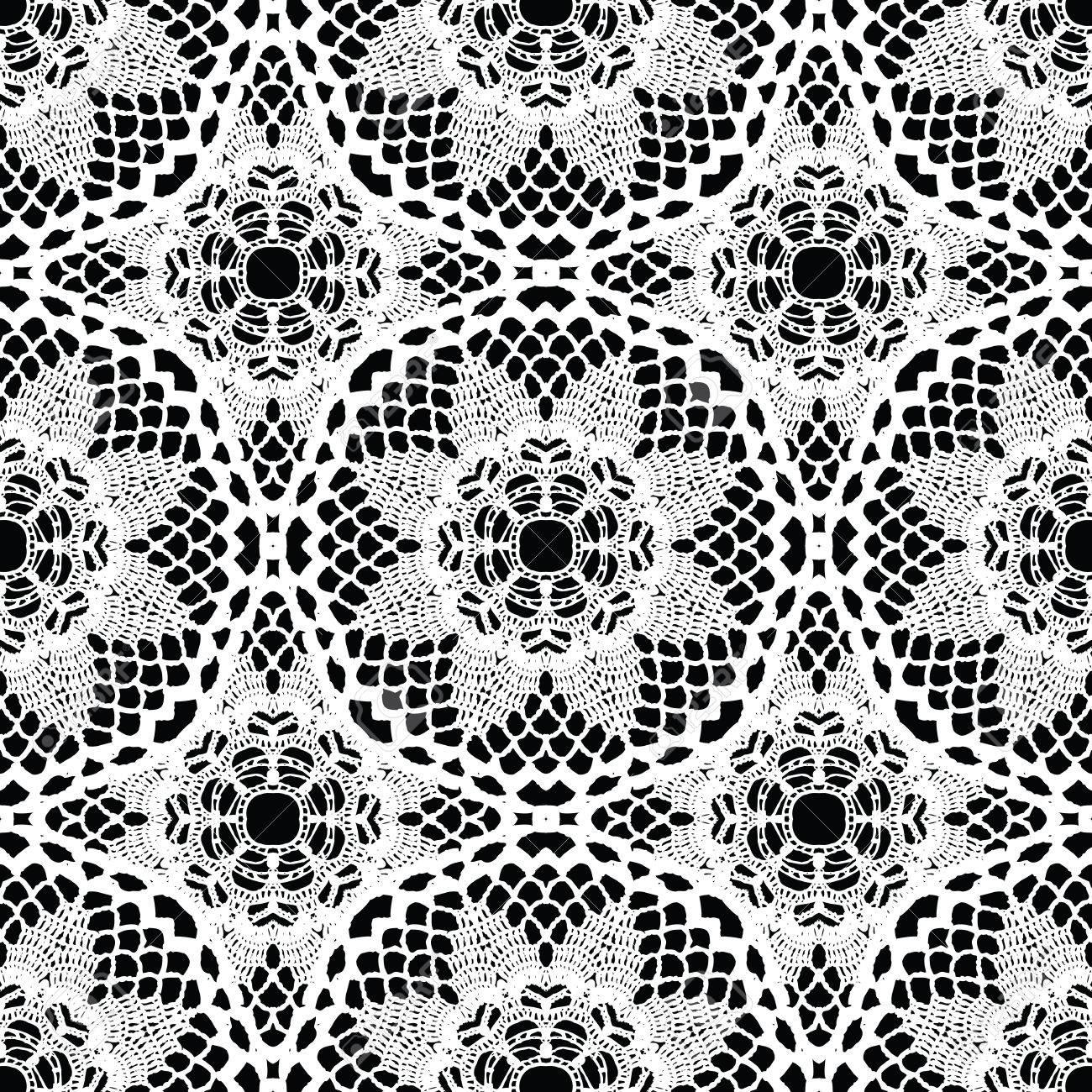 レースの白いシームレスなメッシュ パターンベクトル イラストの