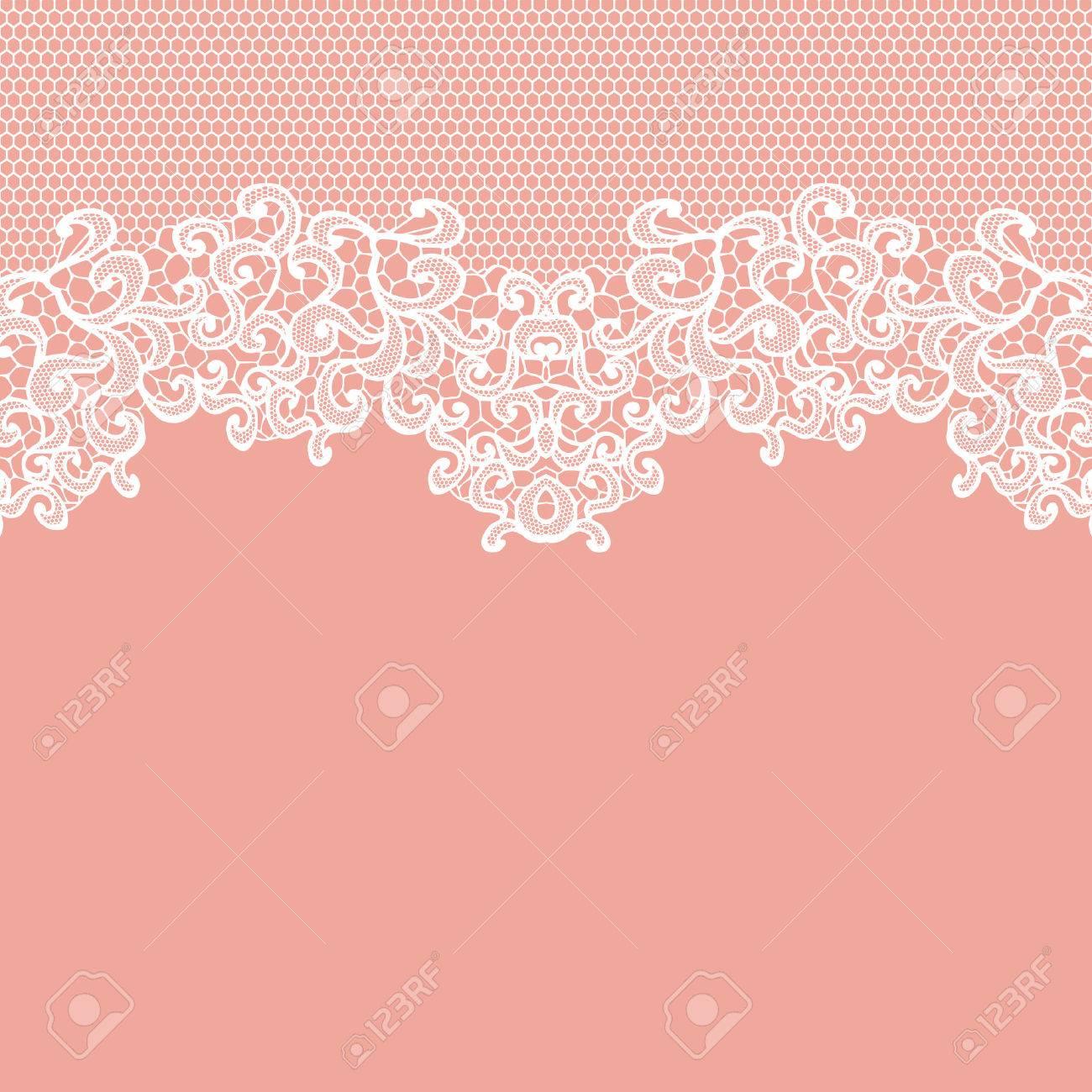 Cordón Blanco Del Vector De La Textura, Plantilla. Ilustraciones ...