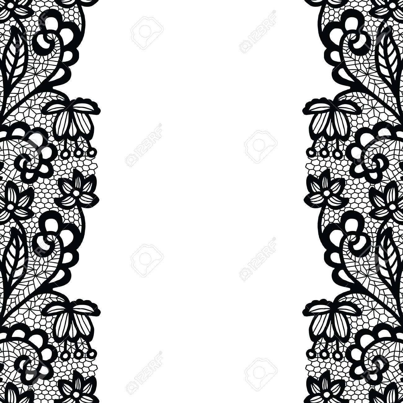 seamless lace border vector illustration white lacy vintage rh 123rf com gold lace border vector lace border vector free download