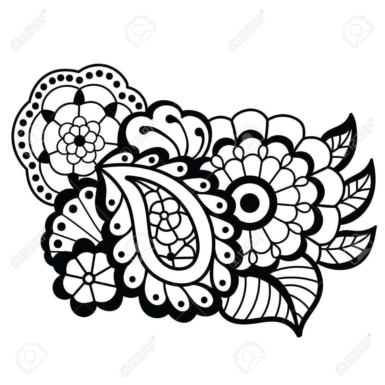 mehndi design floral pattern royalty free cliparts vectors and rh 123rf com henna vector art henna vector designs