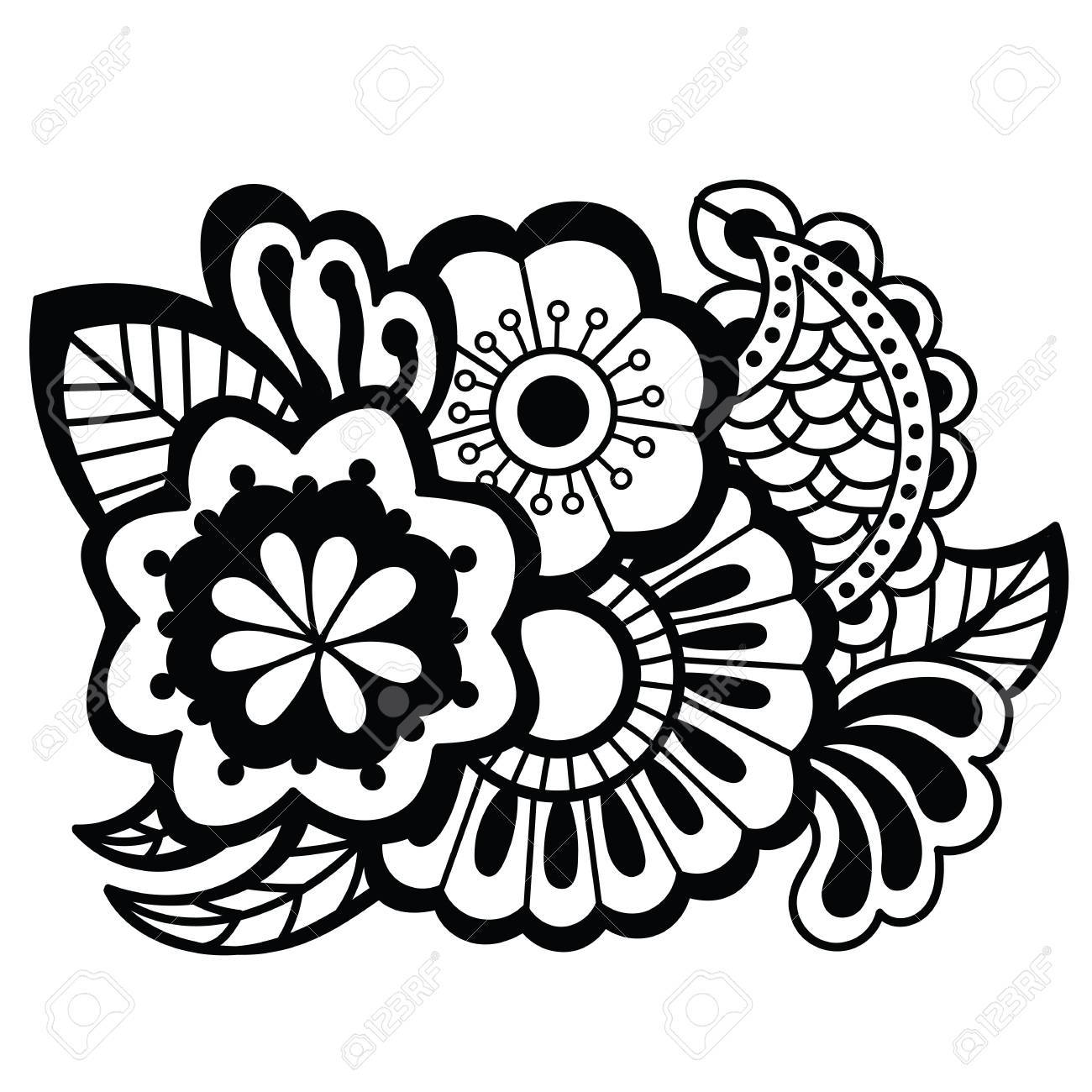 mehndi design floral pattern royalty free cliparts vectors and Floral Design Card mehndi design floral pattern stock vector 77920808