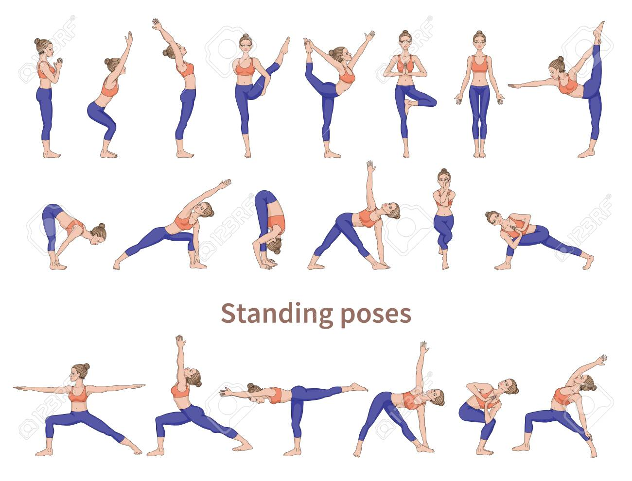 Standing Yoga Poses In English