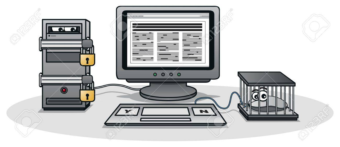 Internet Censorship Stock Vector - 17222256
