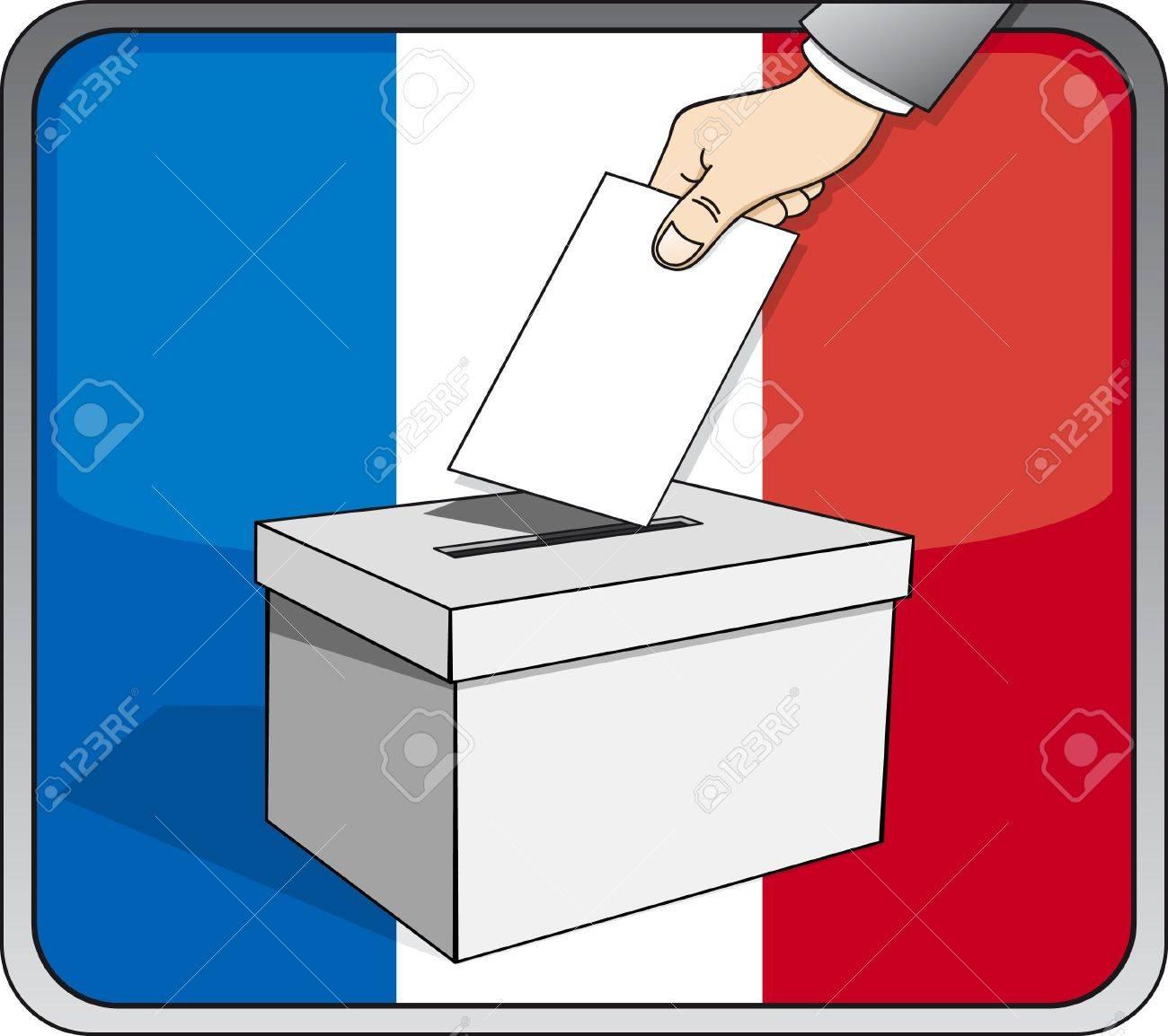 French elections - ballot box Stock Vector - 17336419