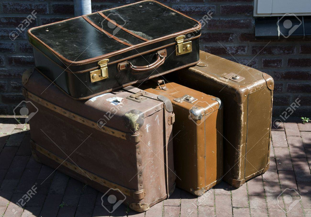 Old Suitcases Old Suitcases For Traveling In The Old Days Stock Photo Picture