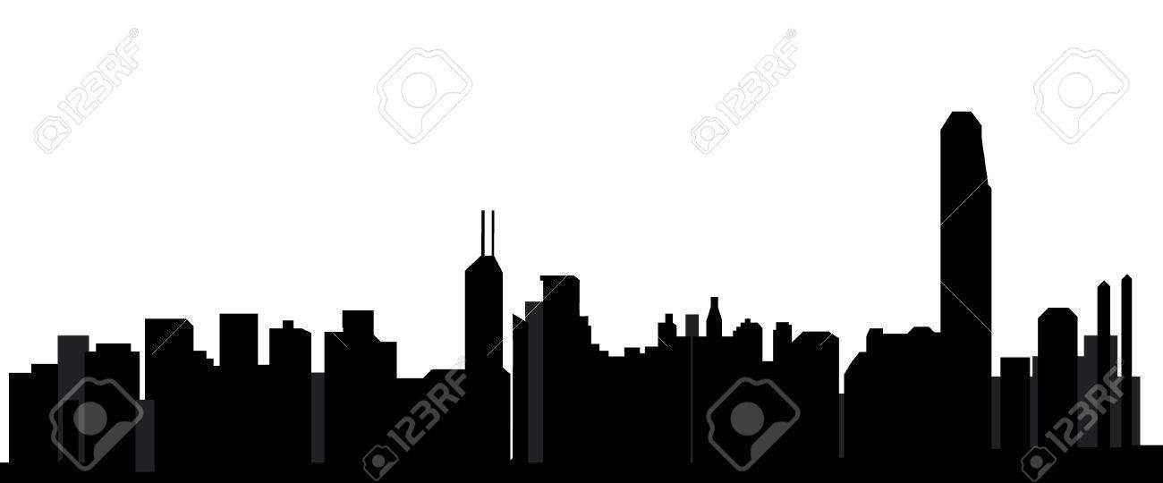 hong kong skyline Stock Vector - 11057243