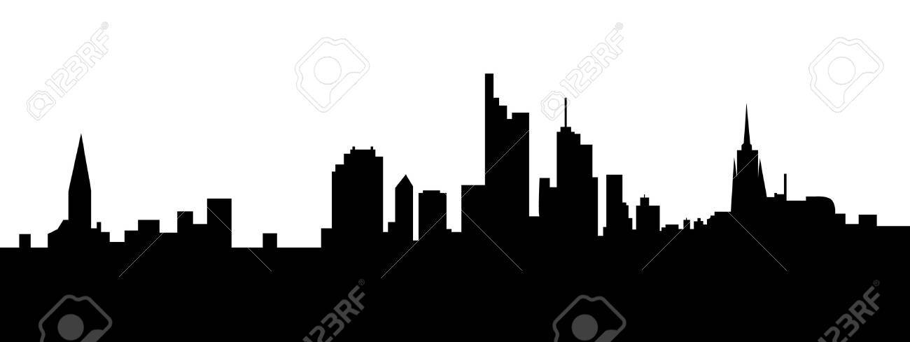 frankfurt skyline Stock Vector - 11158011