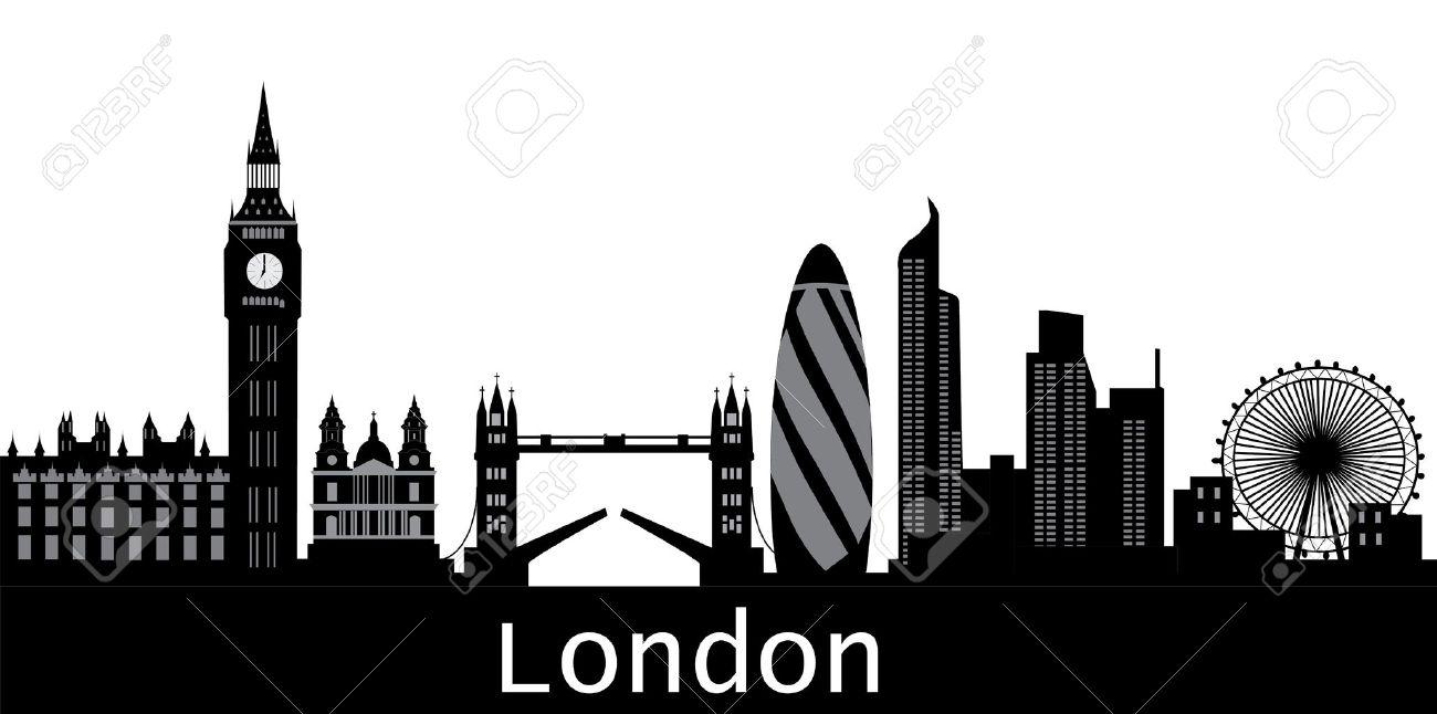 london skyline with text city Stock Vector - 11540071