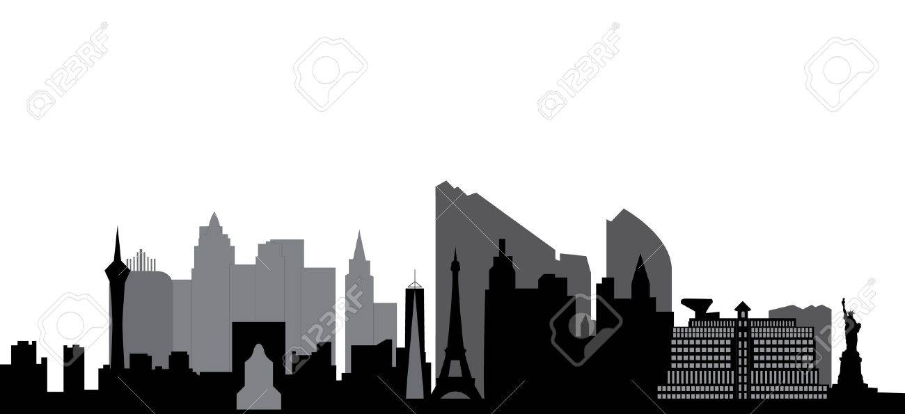 las vegas skyline Stock Vector - 12018180