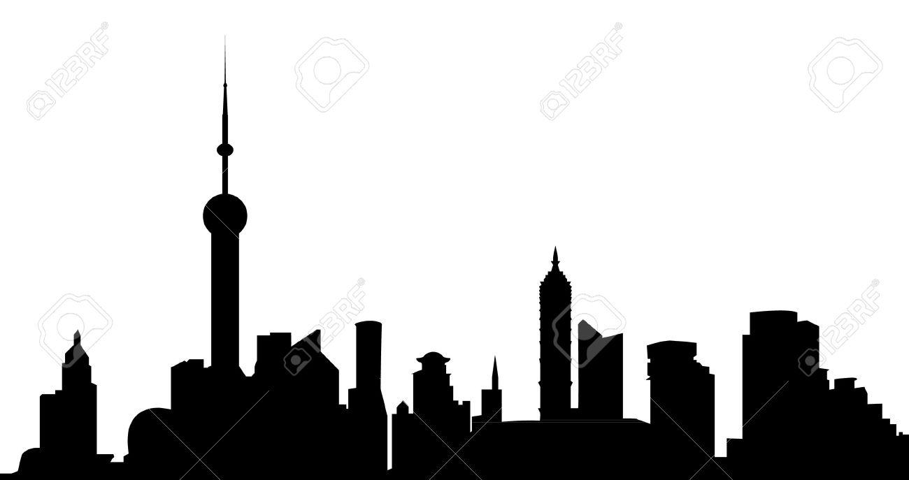 shanghai skyline - 12273604