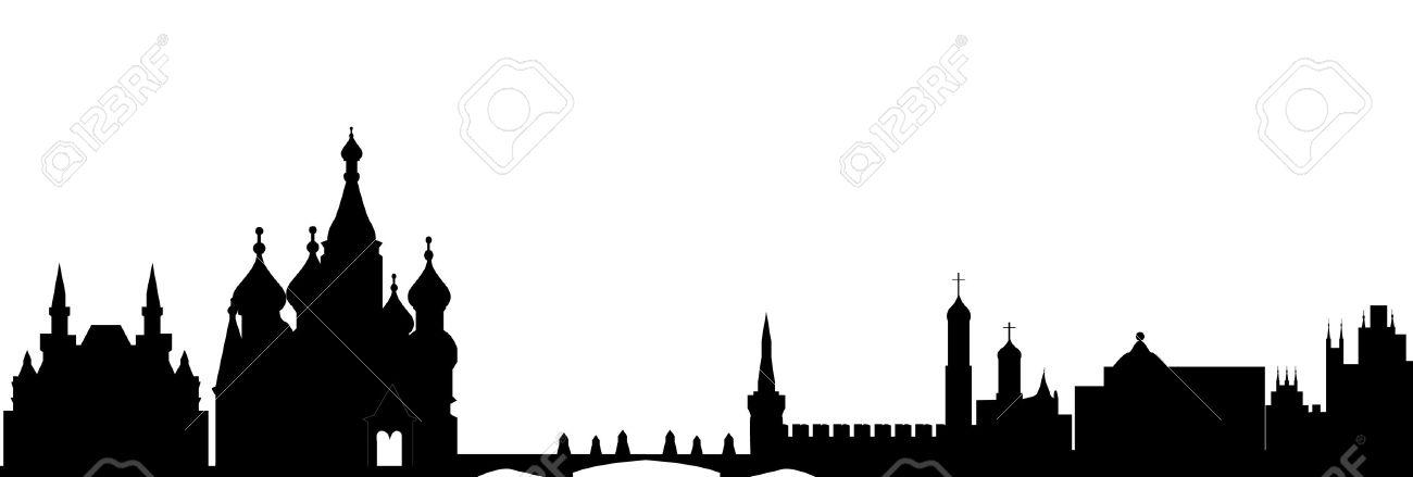 moscow skyline Stock Vector - 12273611