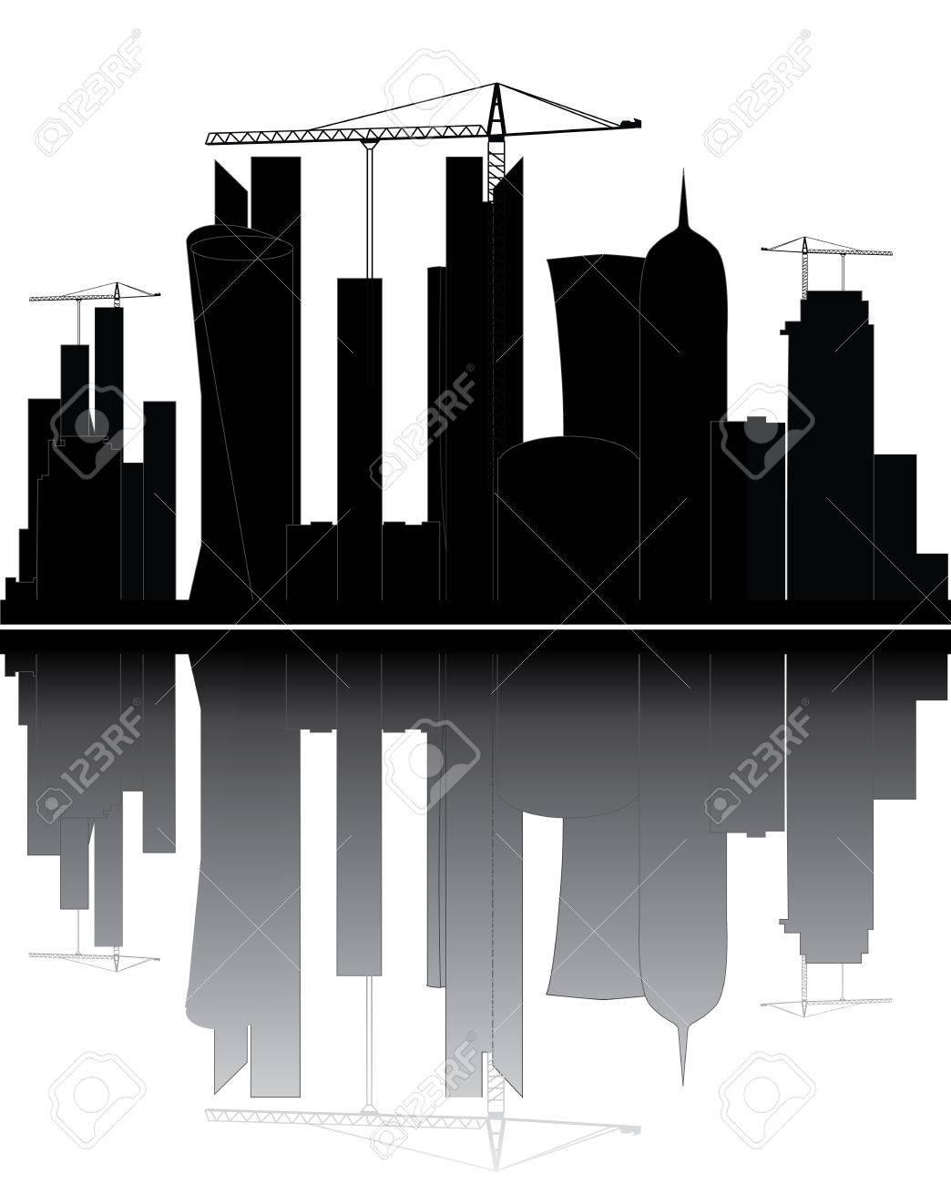 qatar skyline - 13780841