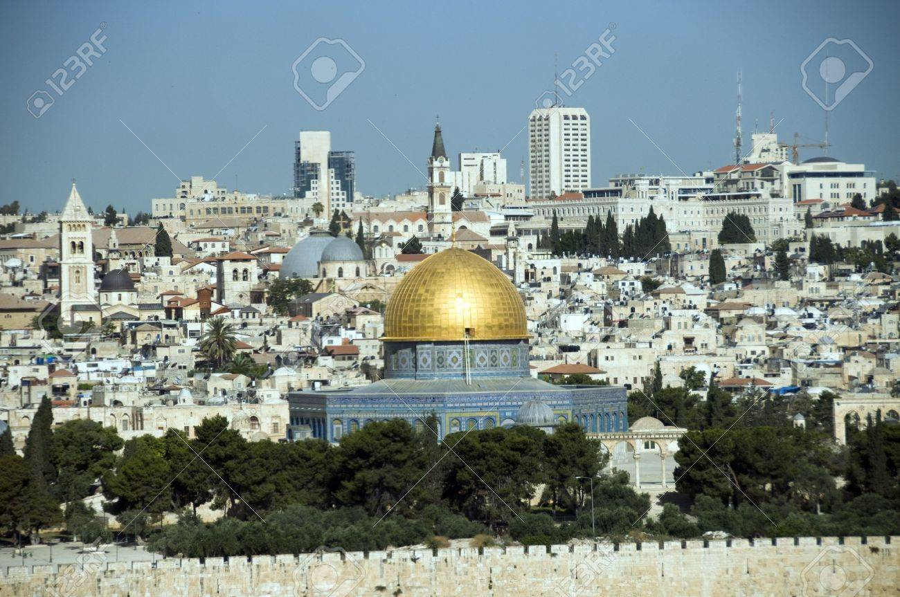 jerusalem skyline with the rock mosk Stock Photo - 14560593