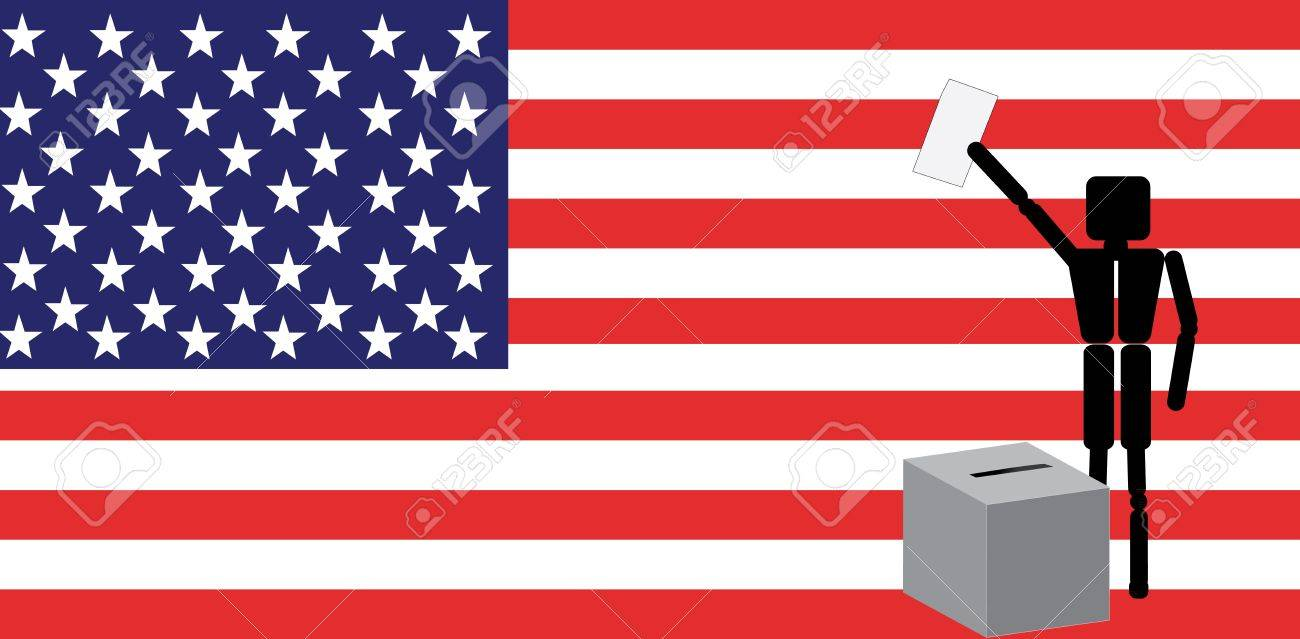 man voting in america royalty free cliparts vectors and stock rh 123rf com Register to Vote Clip Art Free Clip Art Vote Com