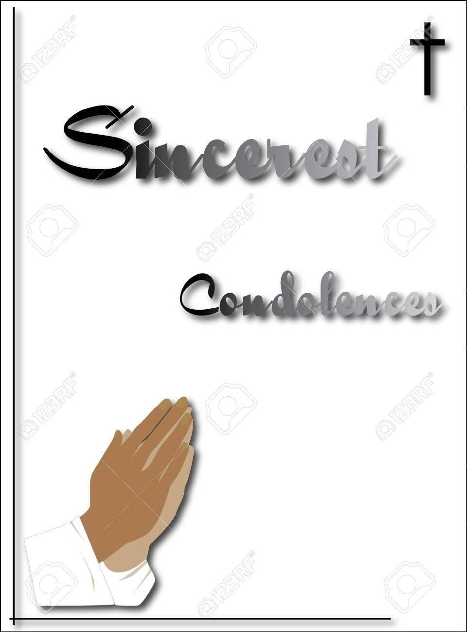 praying hands condolence card royalty free cliparts vectors and