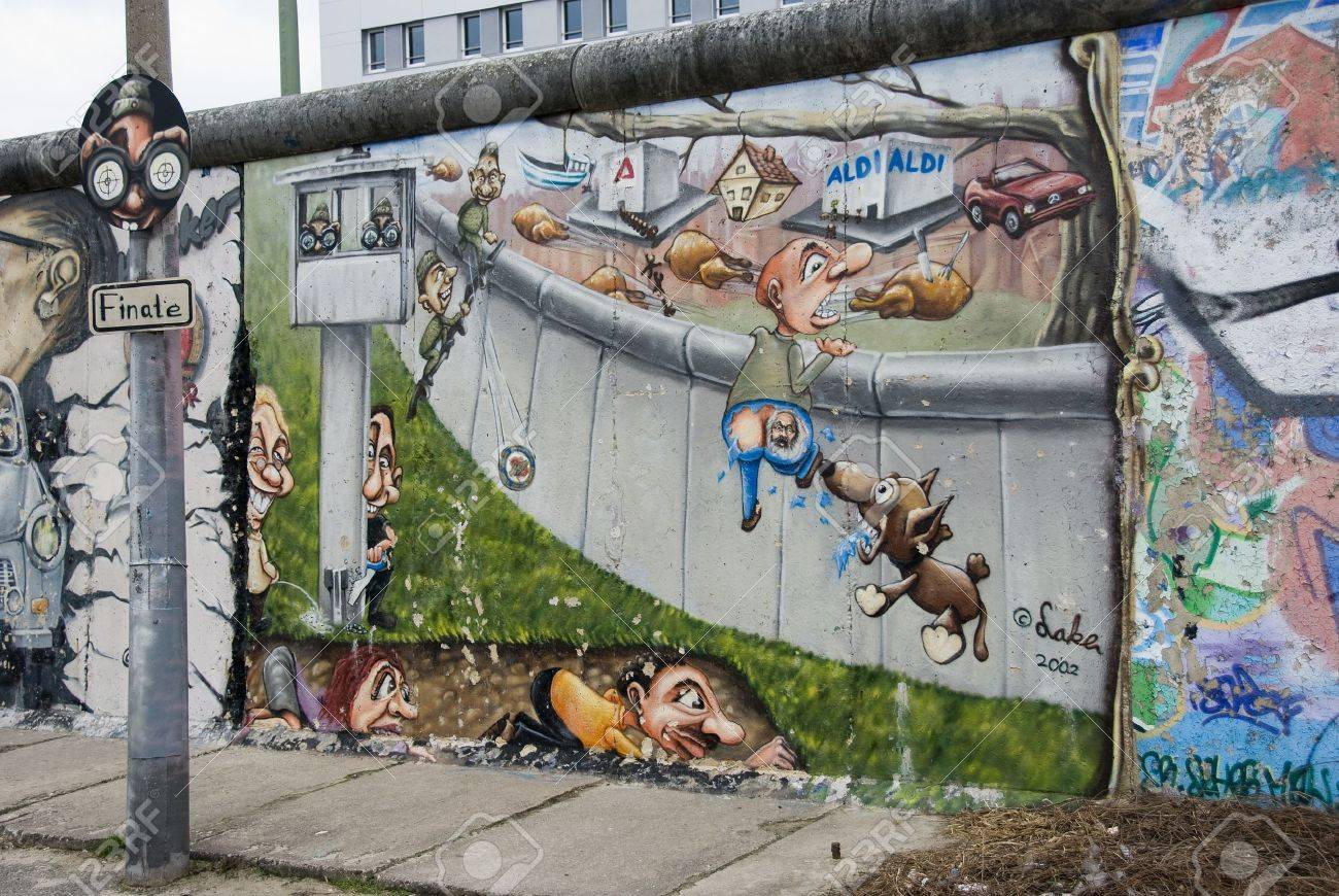 east side gallery the largest outdoor art gallery in the world in Berlin Stock Photo - 18480198