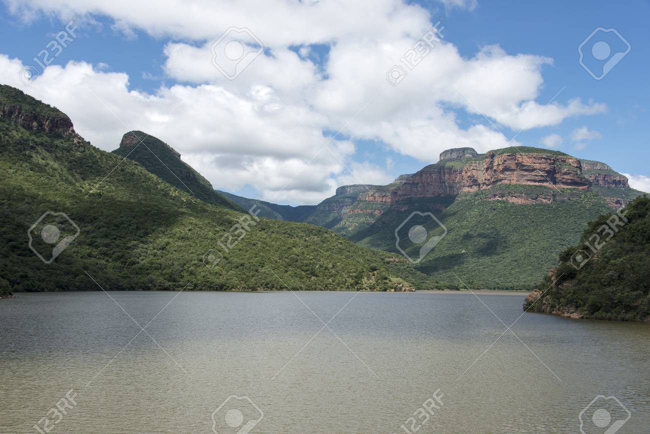 the swadini dam near the blyde river with the dragensberg as background Stock Photo - 27258365