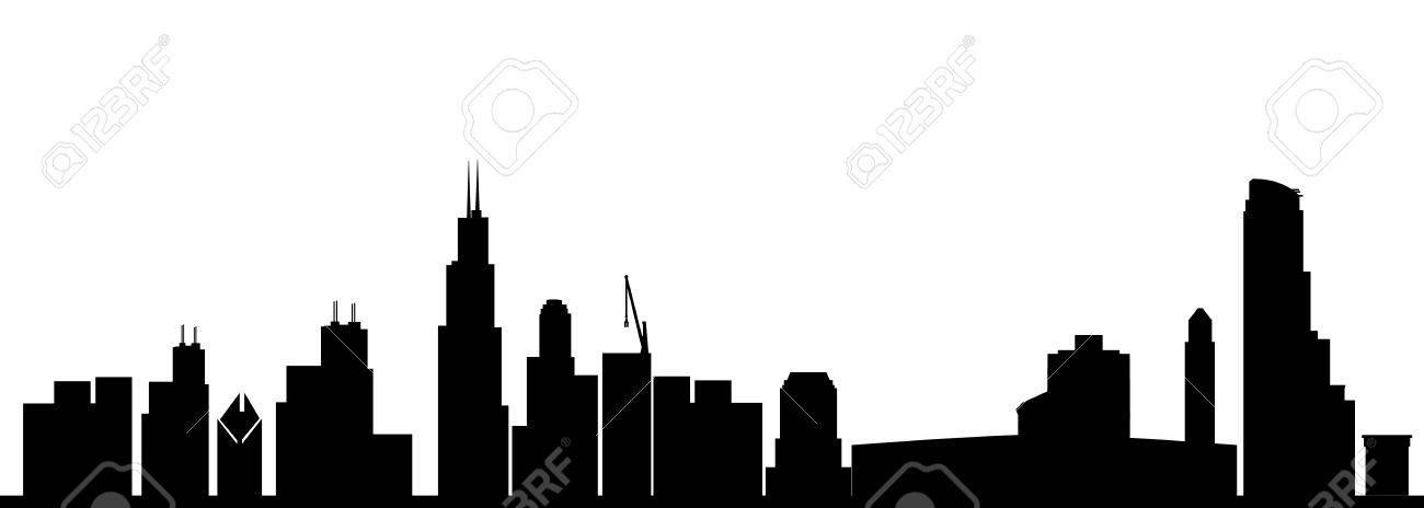 chicago skyline black - 29644970
