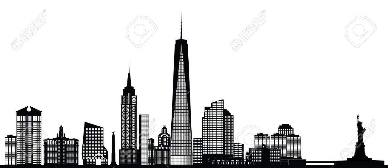 new york city skyline royalty free cliparts vectors and stock rh 123rf com new york city outline clipart new york city skyline clipart