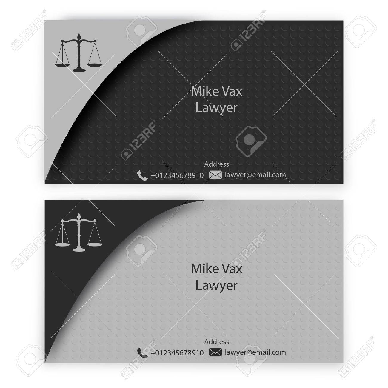 Lawyer Business Card Royalty Free Cliparts, Vectors, And Stock ...