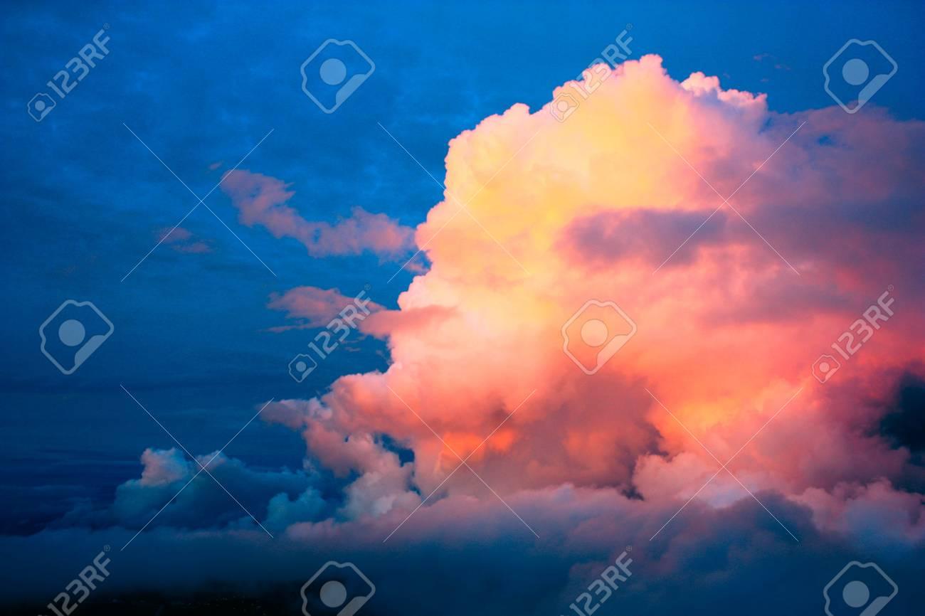 Orange clouds at sunset Stock Photo - 15255328