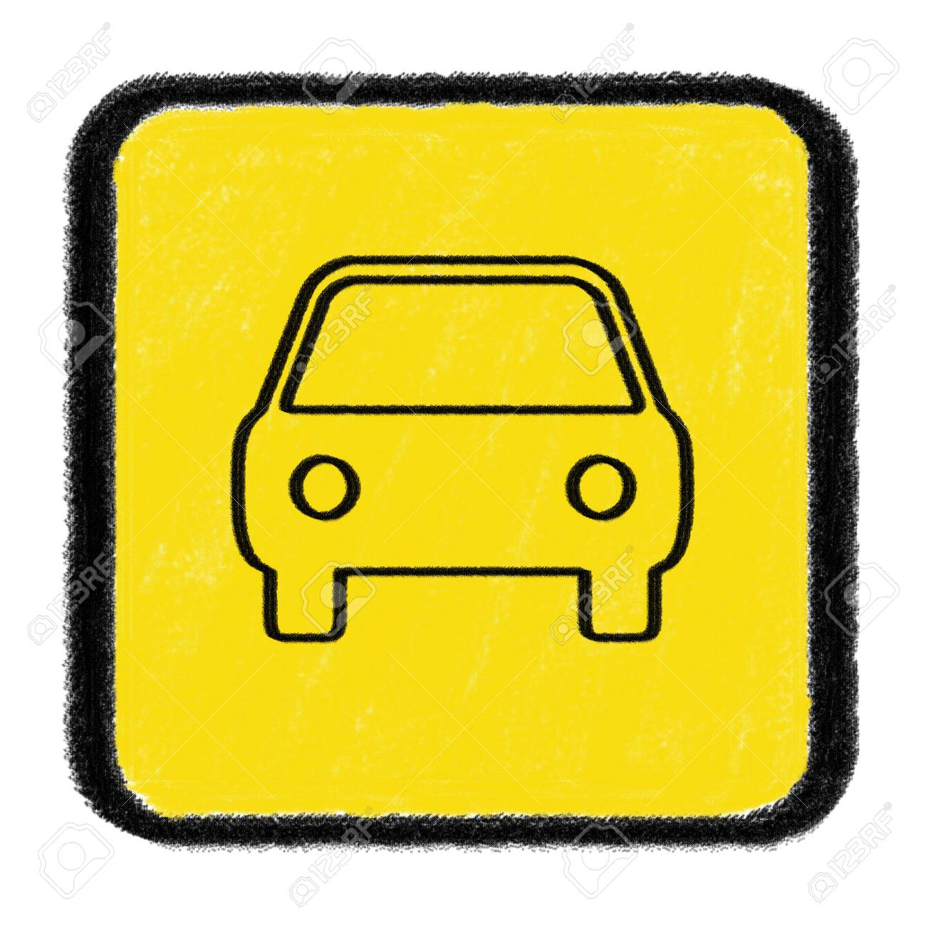 car sign drawn with chalk Stock Photo - 15436283