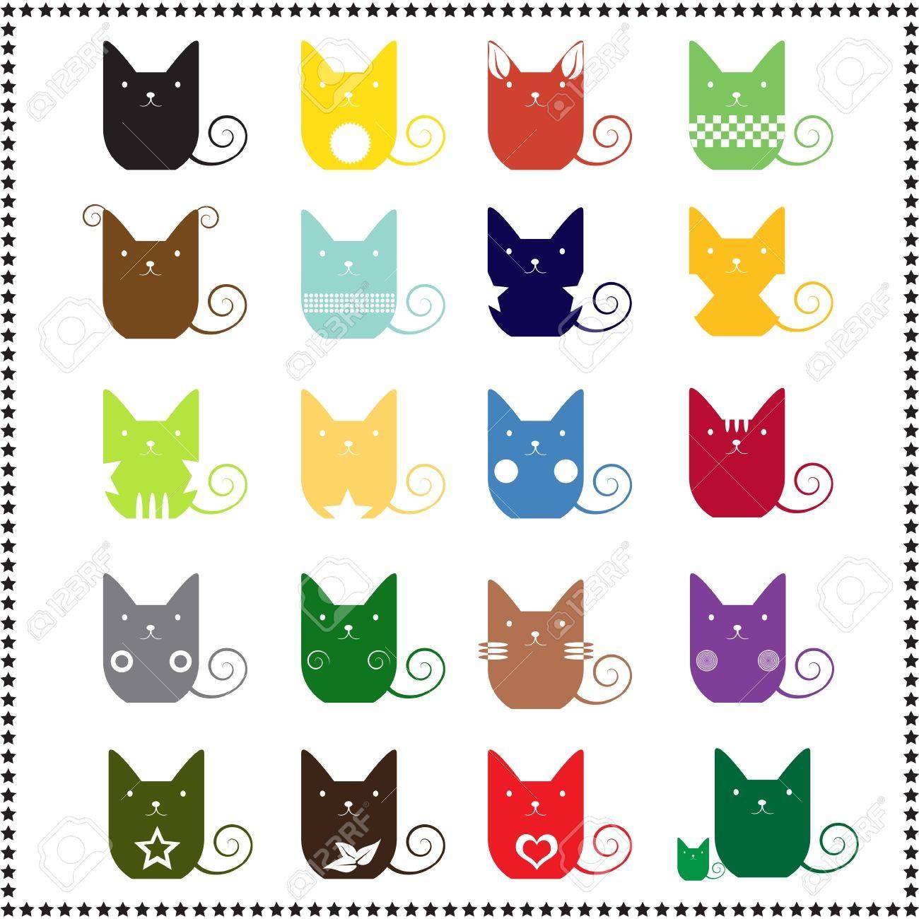 abstract cute cat, Vector illustration Stock Vector - 18457823