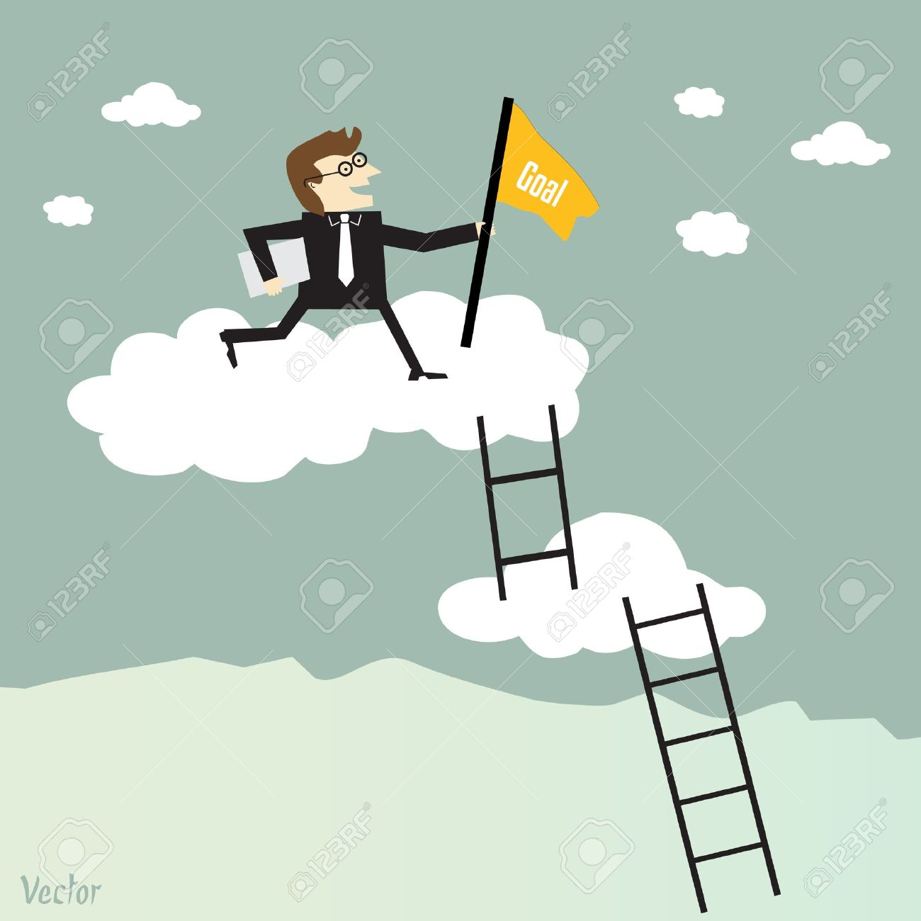 businessman climbing the ladder to success royalty free cliparts vectors and stock illustration image 20664930 businessman climbing the ladder to success