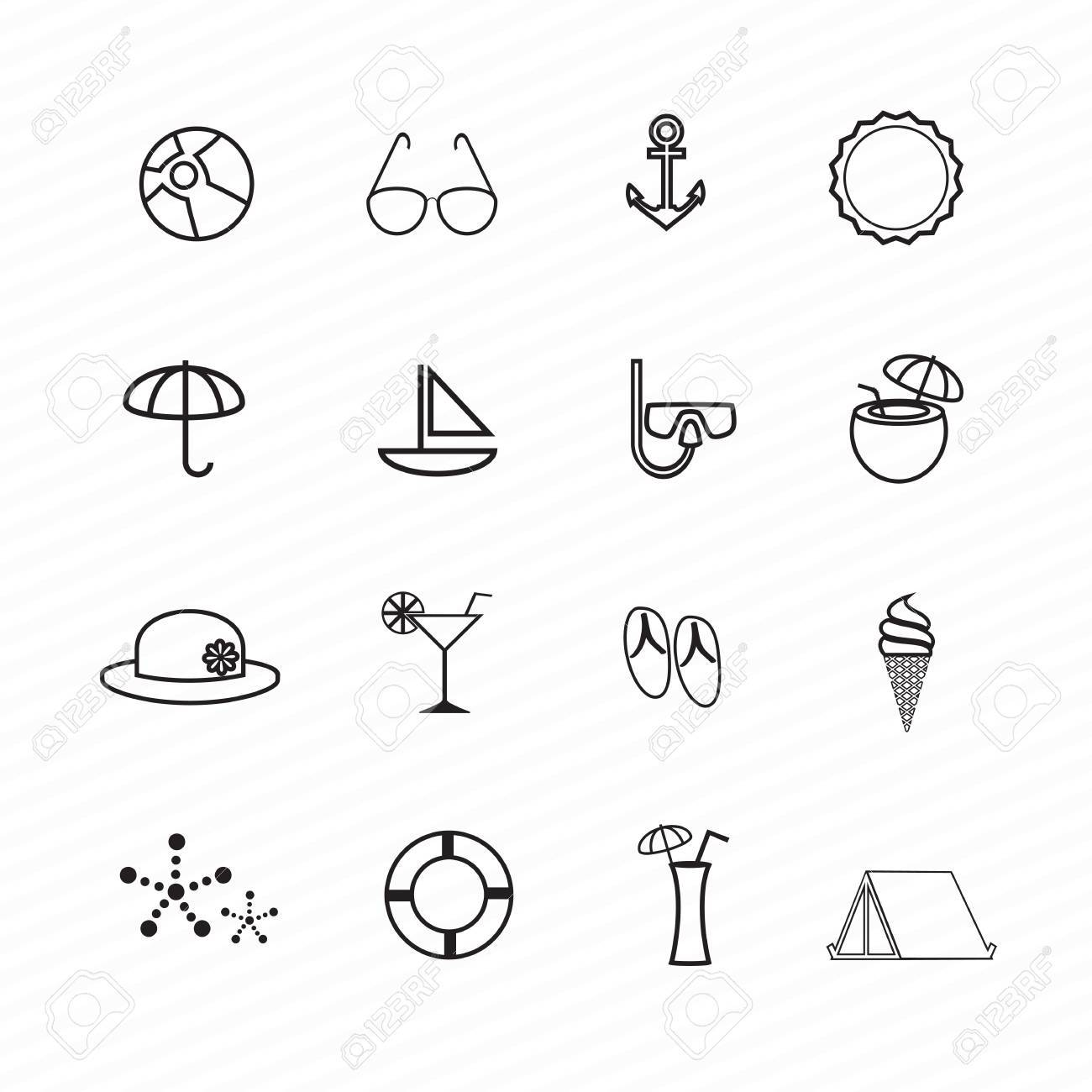 Summer Icons Stock Vector - 22142082