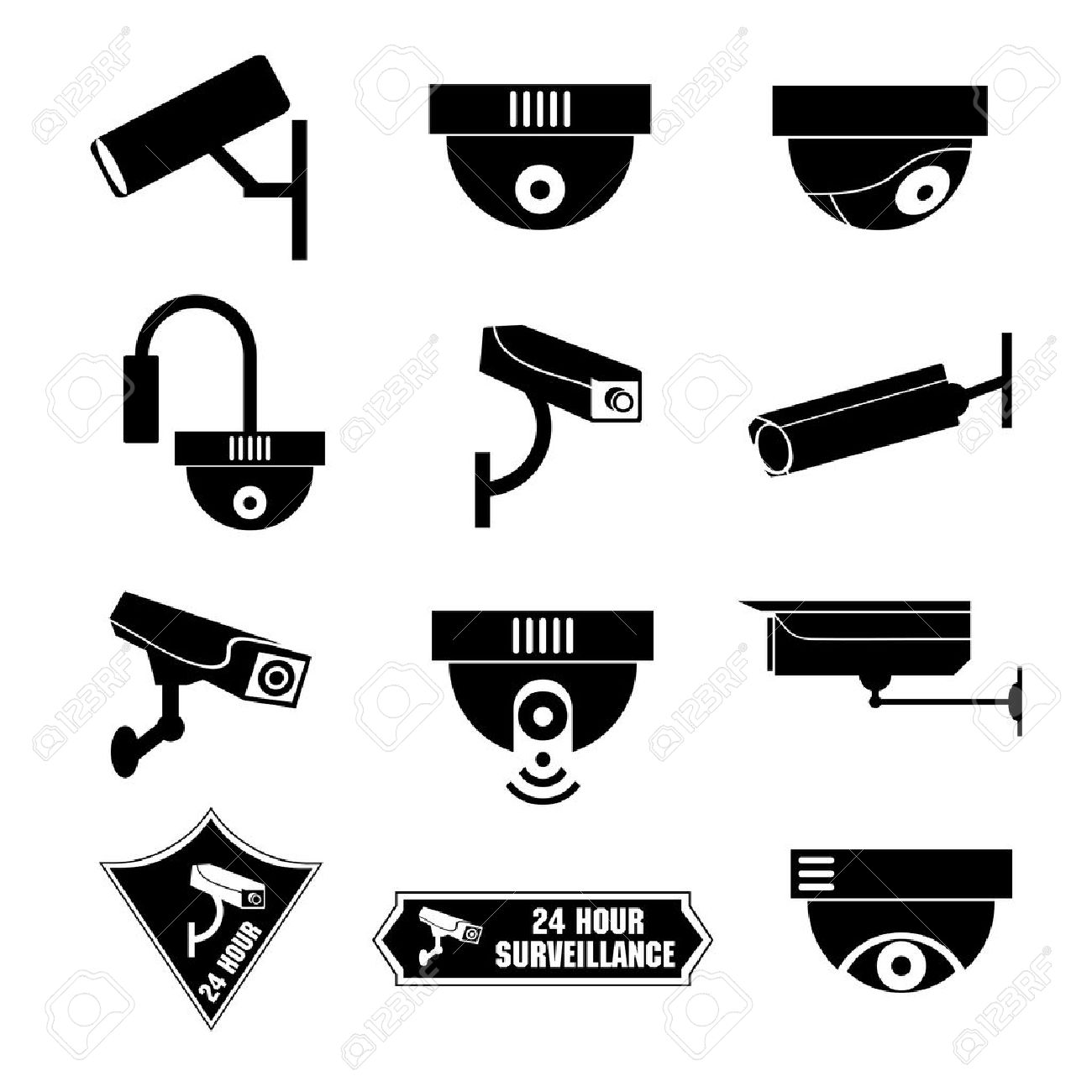 Video surveillance, cctv icon, vector illustration - 24951899