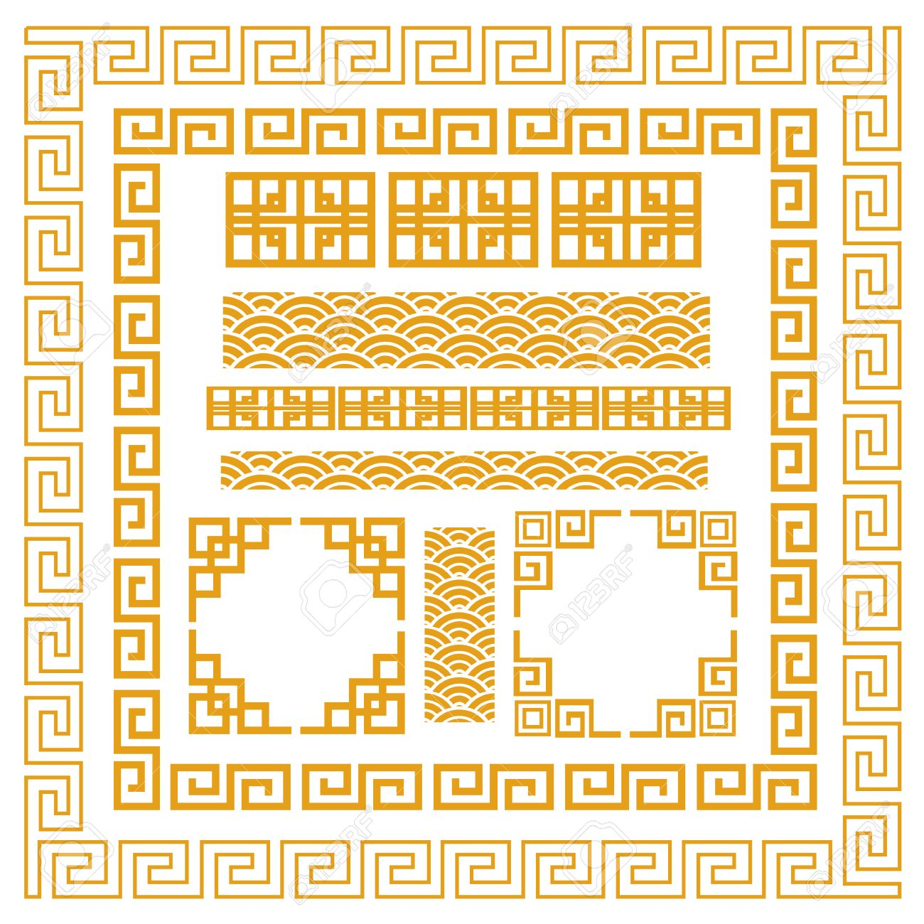 Chinese decorative frame Stock Vector - 24951908
