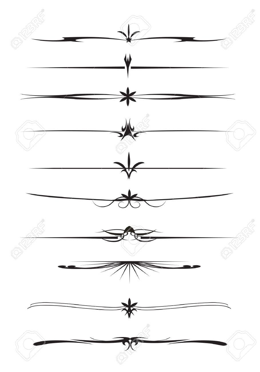 fa4e819ab7dd Conjunto De Línea De Separación De Texto Ilustraciones Vectoriales ...