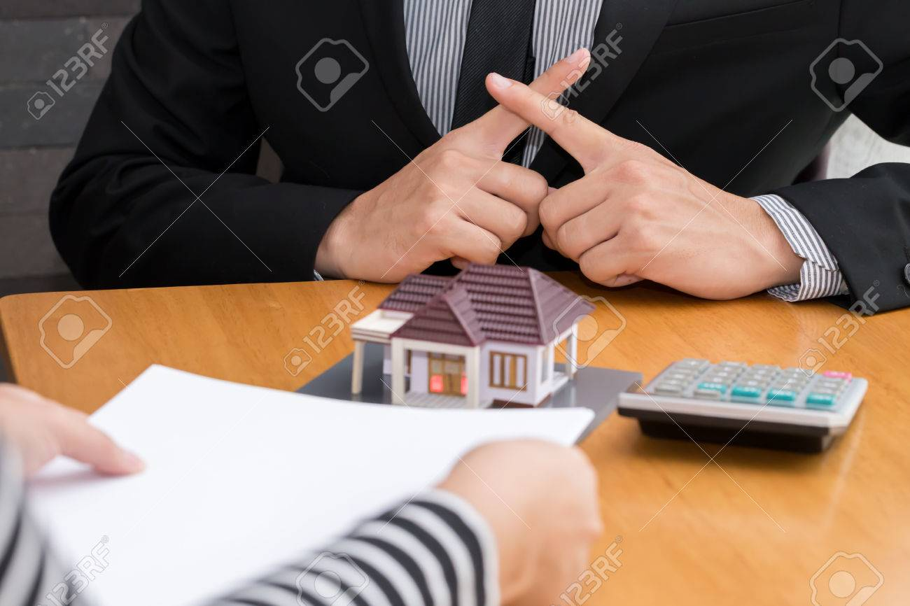Banks refuse loans to buy homes. Real Estate concept - 65330174