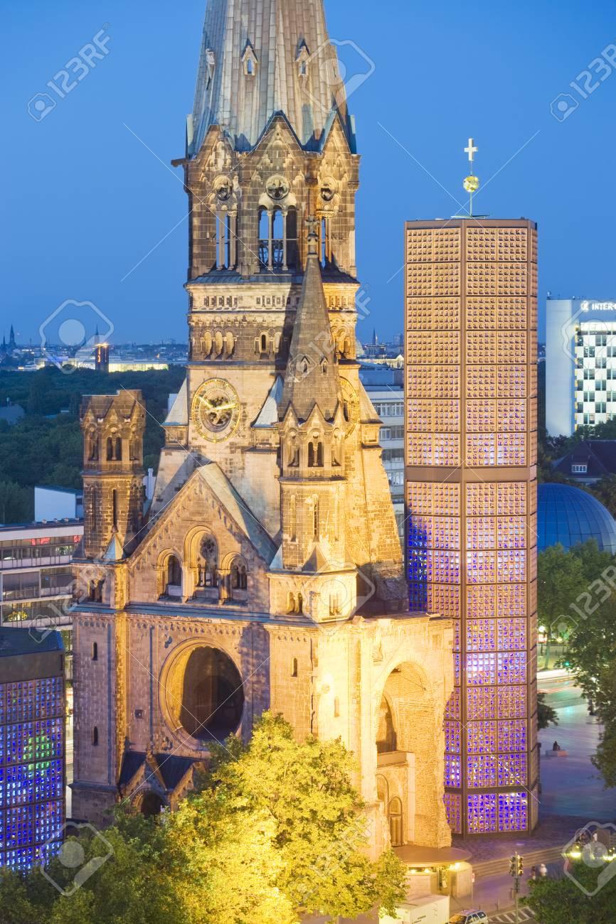 Kaiser Wilhelm Memorial Church at dusk - 73074217