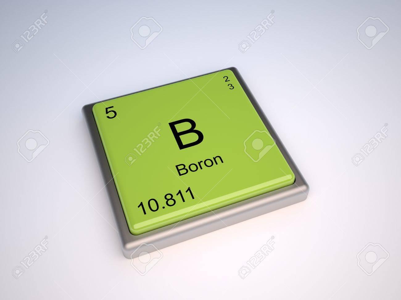 Elemento qumico de boro de la tabla peridica con smbolo b elemento qumico de boro de la tabla peridica con smbolo b iupac foto de archivo urtaz Images
