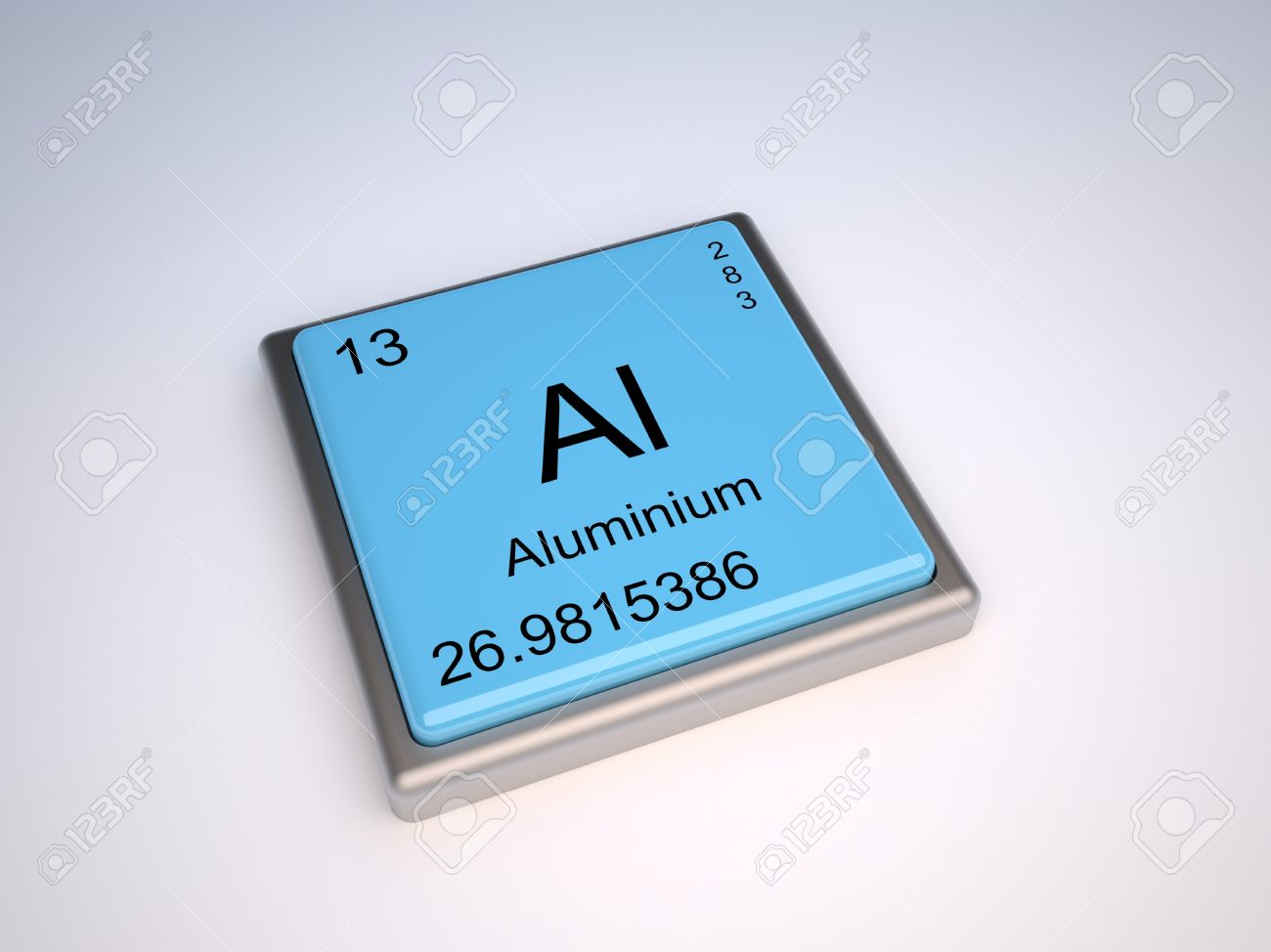 Aluminium chemical element of the periodic table with symbol Al Stock Photo - 9256924