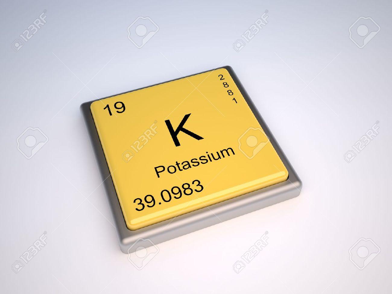 Potassium chemical element of the periodic table with symbol potassium chemical element of the periodic table with symbol k stock photo 9257045 urtaz Images