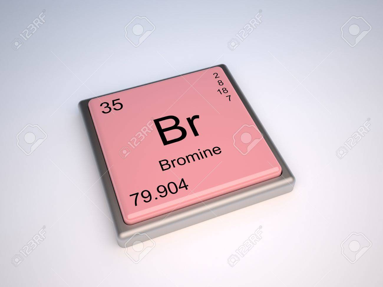 Bromine chemical element of the periodic table with symbol br stock bromine chemical element of the periodic table with symbol br stock photo 9257137 urtaz Images