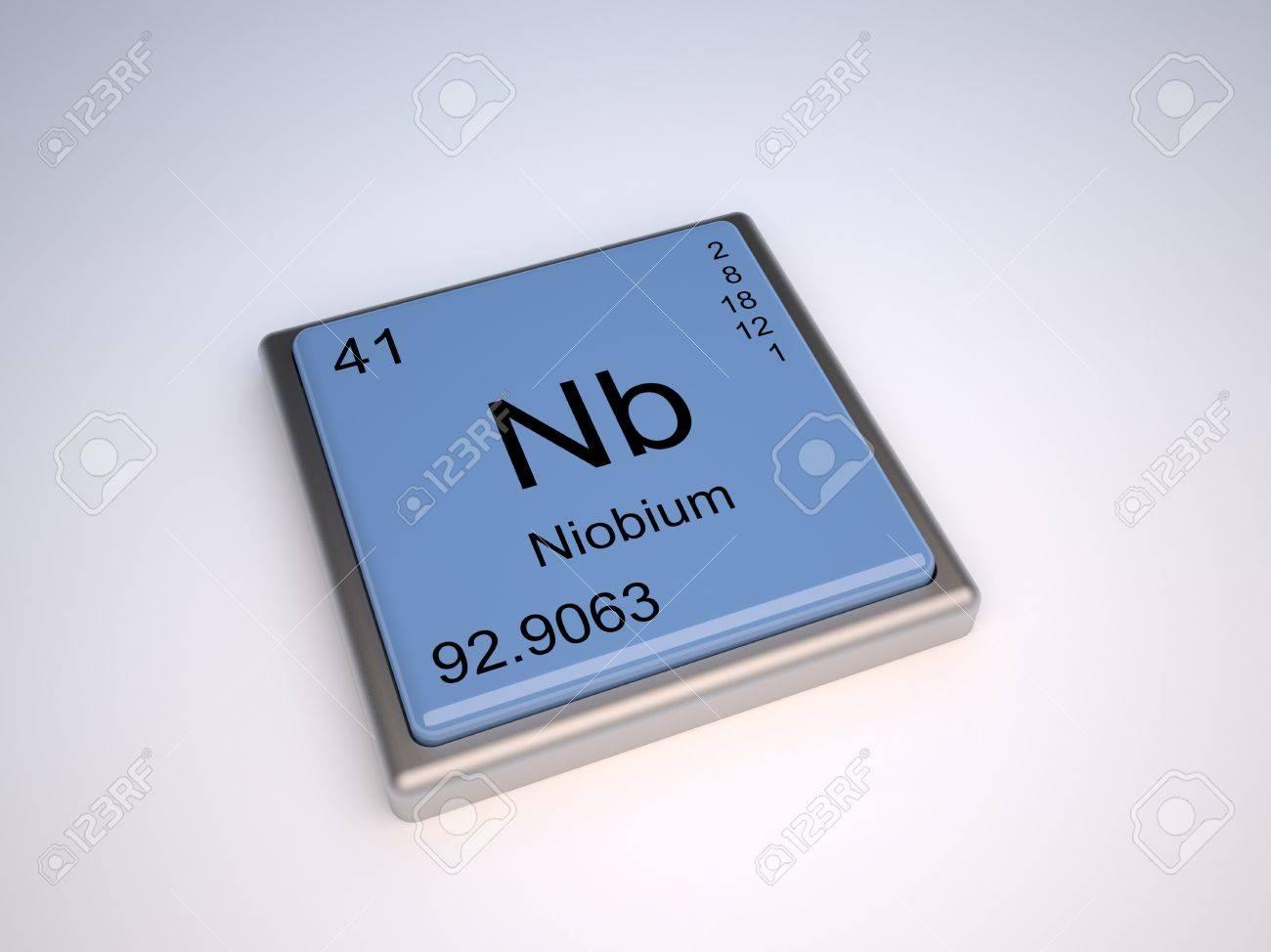 Niobium chemical element of the periodic table with symbol nb niobium chemical element of the periodic table with symbol nb stock photo 9257095 biocorpaavc