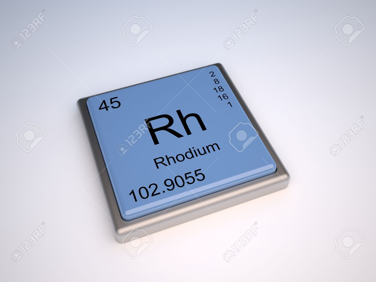 Rhodium chemical element of the periodic table with symbol rh rhodium chemical element of the periodic table with symbol rh stock photo 9257098 gamestrikefo Gallery