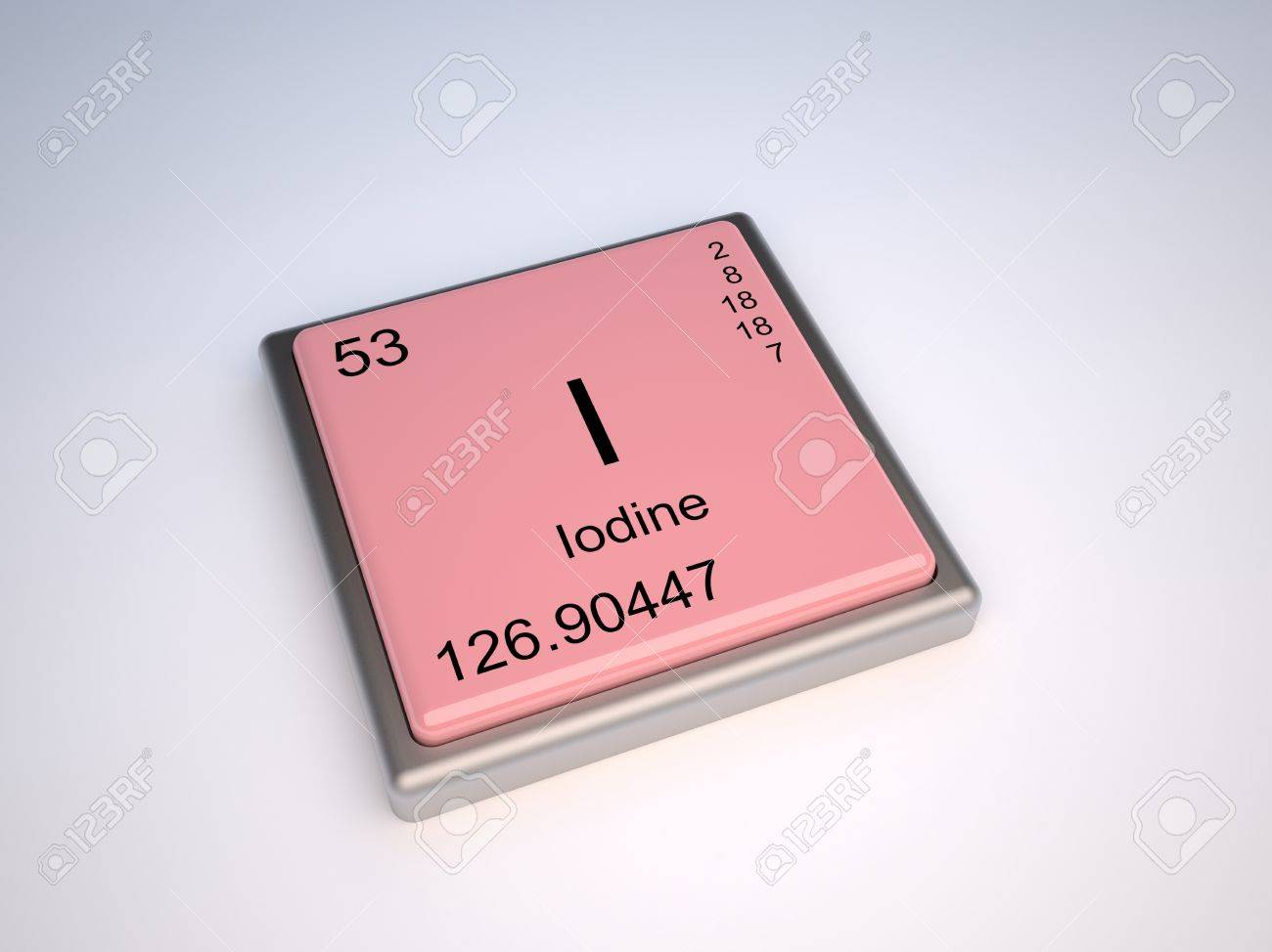 Iodine chemical element of the periodic table with symbol I Stock Photo - 9257090