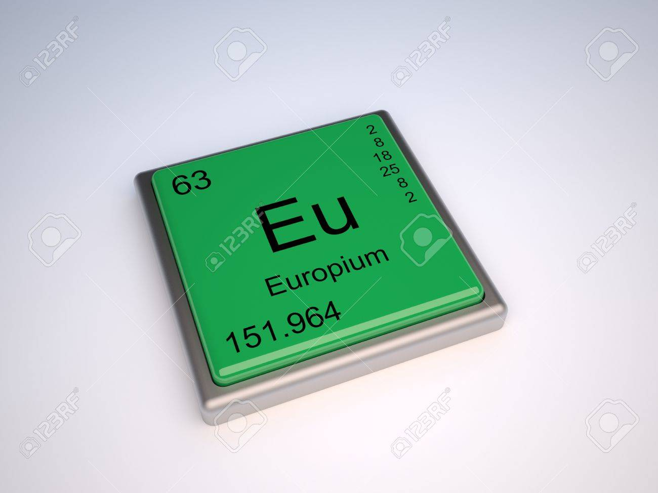 Europium chemical element of the periodic table with symbol Eu Stock Photo - 9257111
