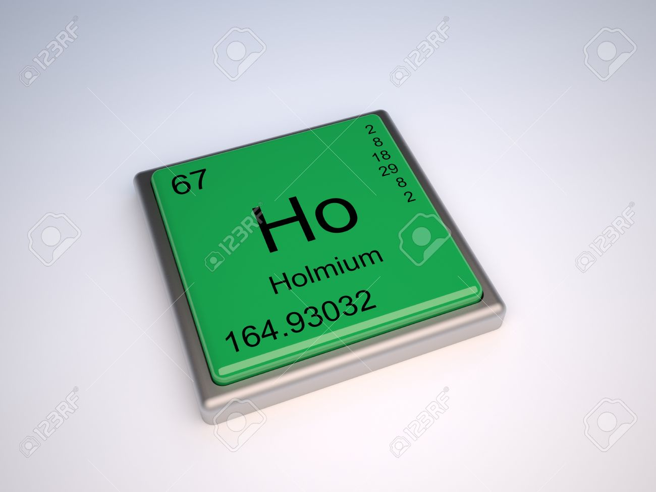 Holmium Chemical Element Of The Periodic Table With Symbol Ho Stock