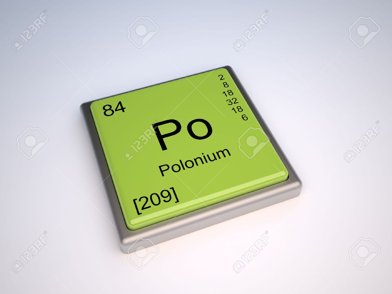 Polonium Chemical Element Of The Periodic Table With Symbol Po ...